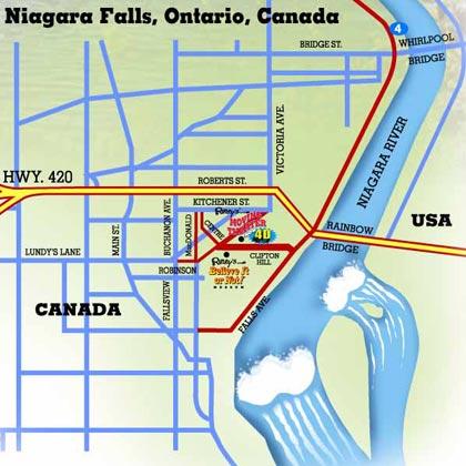 niagara falls map