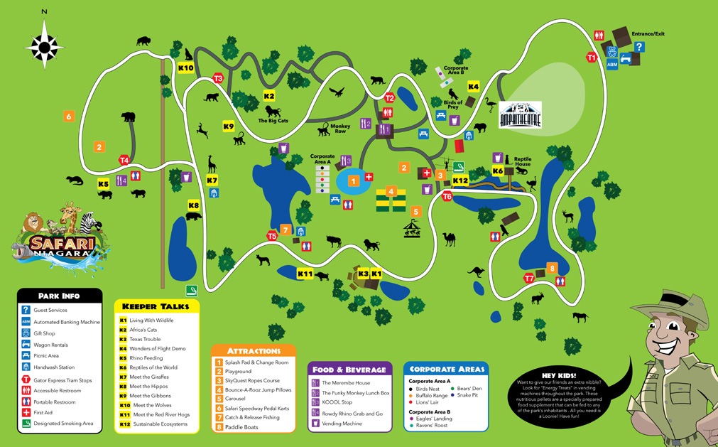 Safari Niagara Coupons Concerts and Wildlife Conservation – Niagara Falls Tourist Attractions Map